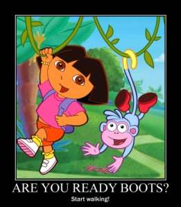 Yea, I'm on to you Dora.