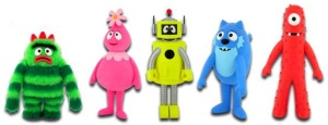 Here's The Gang. From left to right...Broobie, Foofa, Plex, Toodee, Muno